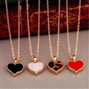 Fashion Vintage 3 colors Necklace Chain For Women Jewelry Accessories Wholesale Heart Pendants Necklace