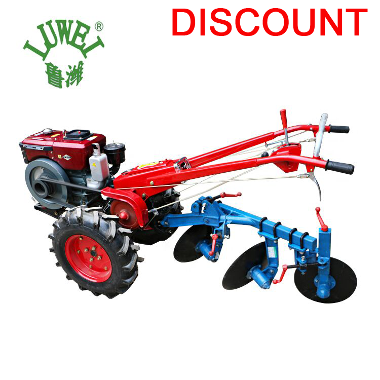 LUKE 2WD series 8hp to 22hp china hand held diesel 2 wheel walking tractor price with many implements