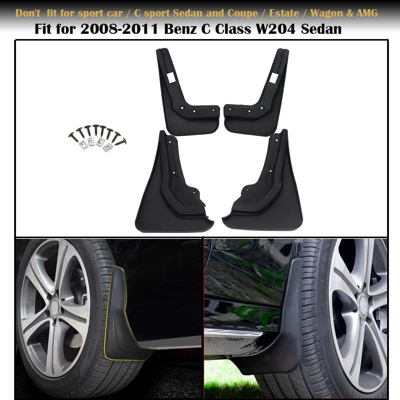 Mudflaps Splash Guards 4pcs Auto Accessories Fit For Mercedes Benz C-class W204 Mud Flap Fenders Splash Guards Mudguards Car Styling In 2011-2014 Front Rear Splash Mud