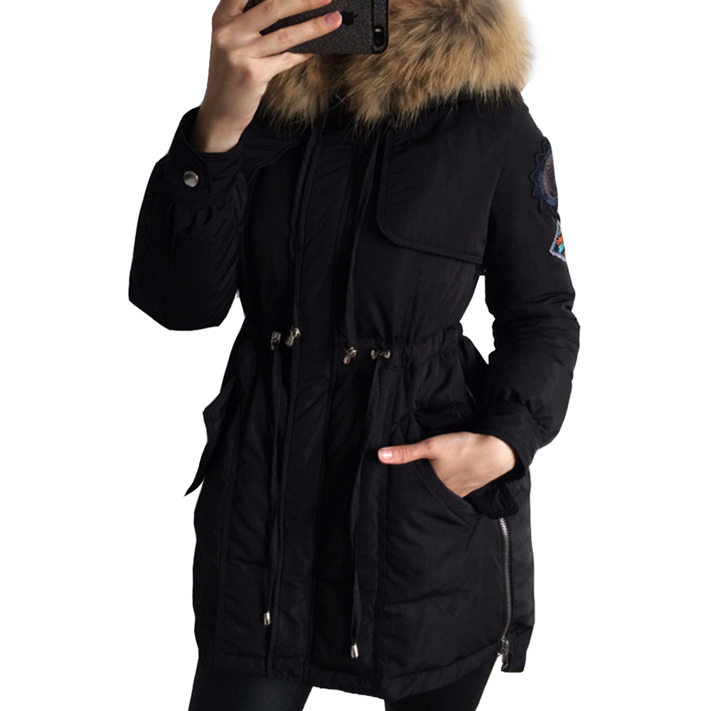 Colorful Apparel New 2016 Winter Coats Women Jackets Real
