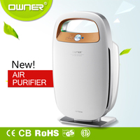 HEPA /ozone/negative ions air purifier air purification system for home/office