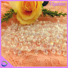 polished glass beads african wedding dress stone beads