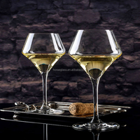 Superior design wine glass cup thin transparent glass goblet