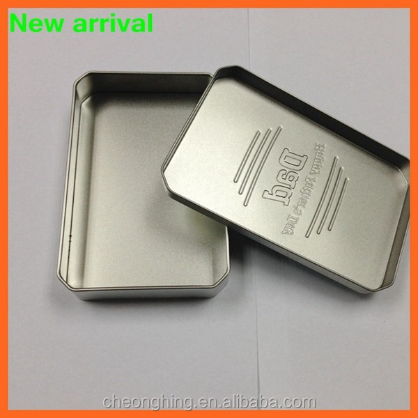 Rectangular tin box for mints
