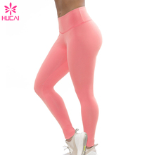 Sexy ladies wear sports slim fit compression yoga fitness pure color nylon spandex leggings