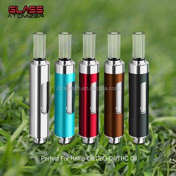 Dican royal cbd oil cartridge glass clear vapor cartridge 510 metal  vaporizer cartridge oil vape pen