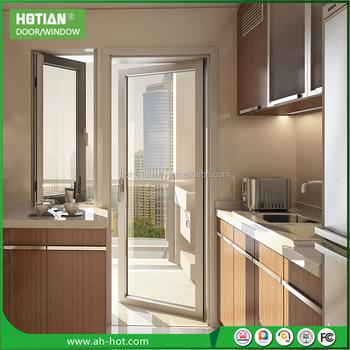 Schiebetür Glas Küche eingangstür mit ausstellfenster innenfenster aluminium-schiebetür