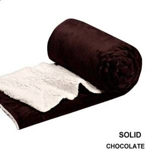 Twin Blanket Super Soft Plush Faux Fur Chocolate Sherpa Blankets / Reversible Winter Throw Bedspread