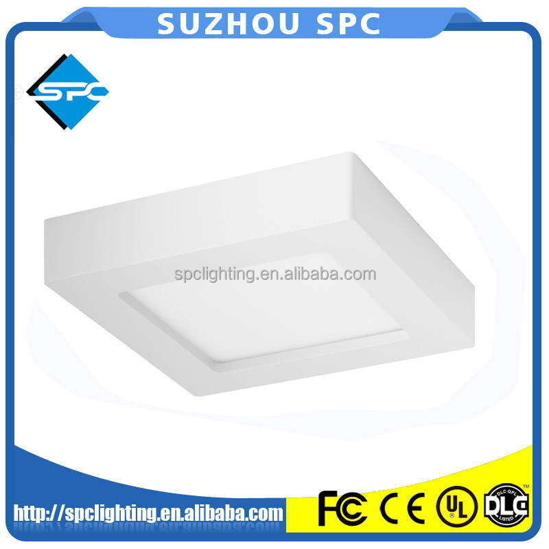 High Power Factor 9W Square Semi-transparent PMMA Differ LED Panel For Home Lighting