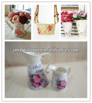Decoration De Jardin Decoratif Metal Arrosoir Petit Pot De Fleur