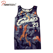 Europe And America Style Unique Print Man Tank Tops Summer Style Sports Basketball Loose Breathable High Quality Gym Men Vest