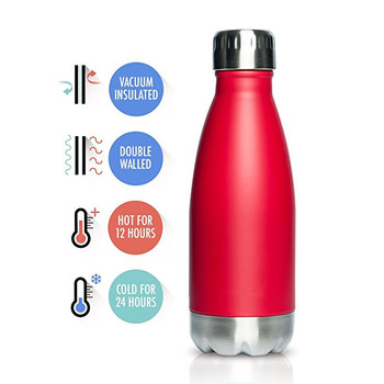 Stainless Steel Vacuum Insulated Water Bottle | Leak-proof Double Walled Cola Shape Bottle