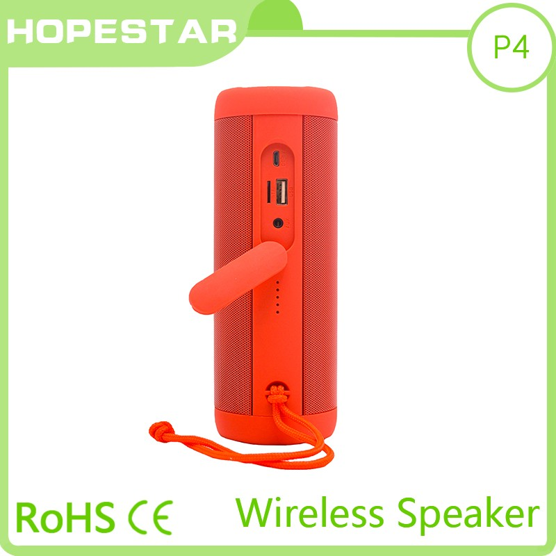 HOPESTAR p4 waterproof mini bluetooth speaker for wholesales with flash light power bank and handfree