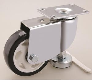 "1.5"", 2"", 2.5"", 3"", 4"" Top Plate Swivel stainless leveling casters"