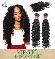 Alibaba durable supplier Top Grade 10A Brazilian Virgin Hair Deep Wave in Xuchang China