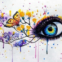 European style eyes 5d diy crafts diamond painting for home decoration