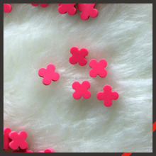 Natural Pink synthesis agate four leaf clover lucky clover Pink synthesis clover flower