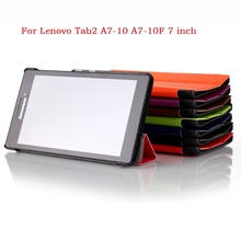 Custer voltage Series Lenovo Tab2 A7-10 Case 3 Flip stand PU Leather Case for Lenovo Tab 2 A7-10 A7 10 A7-10F 7 inch Tablet PC