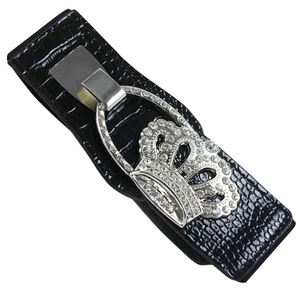 Bobury Adjustable Girl Fashion Cinch Corset Belts Graceful Women Crystal Buckle Elastic Waist Belts Wide Waistband Cummerbund