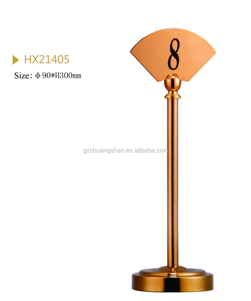 Restaurant Double Size Number metal stand for table
