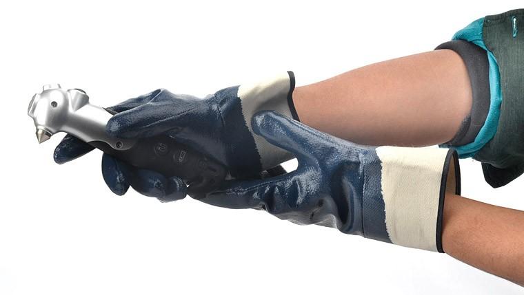 Истиранию перчатка нитрила полностью покрытием нитриловые перчатки Оптовая продажа, изготовление, производство
