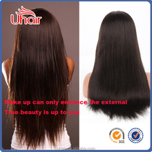 No chemical process brazilian natural hair wig wholesale price straight hair texture human hair wig 150% density lace wigs