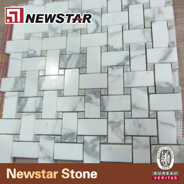 Baja precio de mosaico de m rmol blanco del azulejo del for Precio mosaicos para exterior