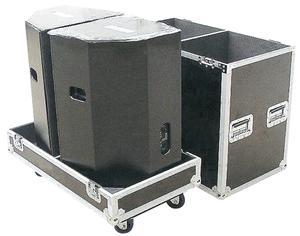 15 inch Dual active line array speaker road case