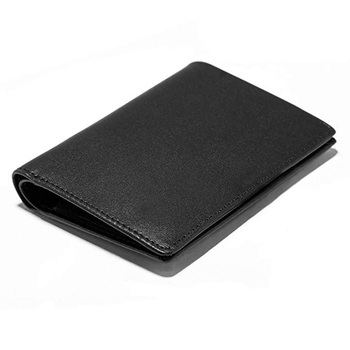 Awesome europe Men Leather Front Pocket Minimalist mens bifold pen holder Wallet with pen holder