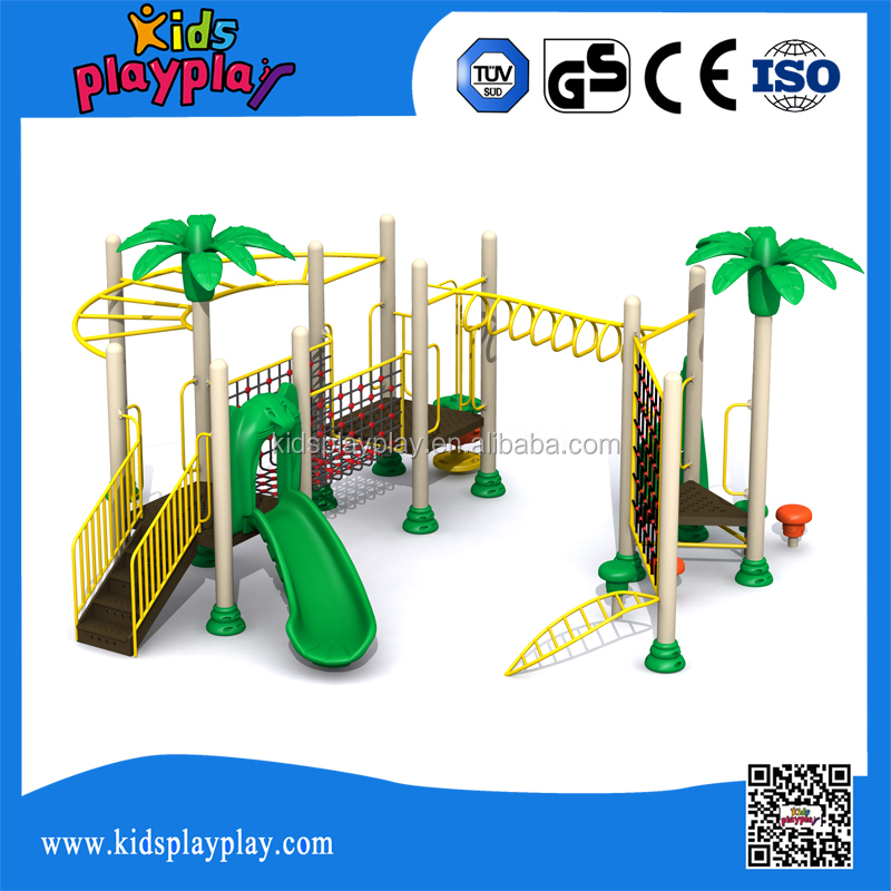 Commercial used plastic outdoor play ground jungle gym equipment
