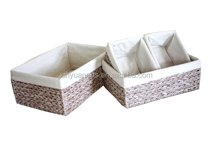 Handmade Basket Companies : Handmade printing paper band storage basket set of