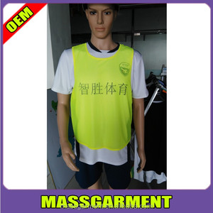 100% polyester mesh cloth vest tank top soccer training vest sports training bibs tank tops
