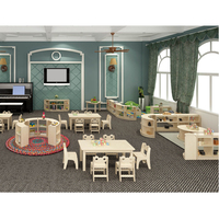 Factory Price Kids Furniture Wholesale Wood Daycare Children Furniture Table And Chair
