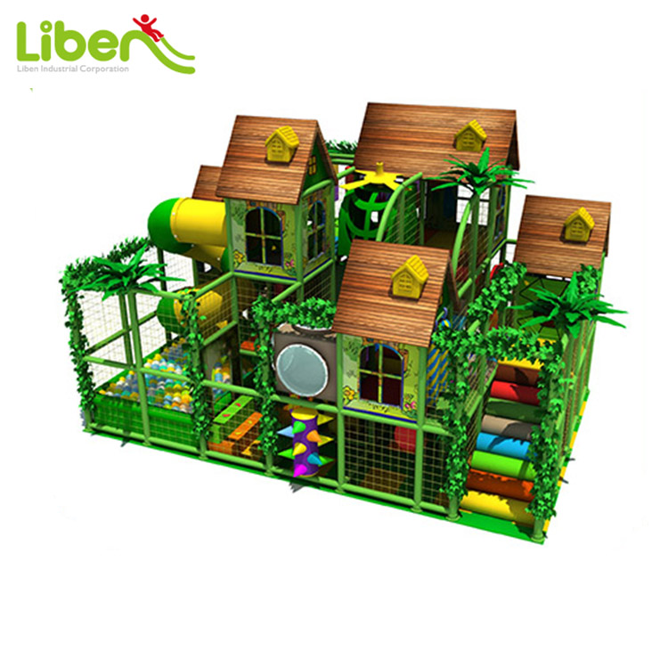 Commercial Jungle Toddler Plastic Indoor Amusement Park, Forest Theme Soft Indoor Playground Equipment
