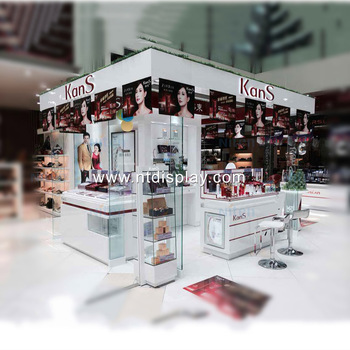 Retail Wood Shop Display Design Ideas Shopping Mall Perfume Store Makeup  Kiosk Design - Buy Makeup Kiosk Design,Makeup Store Design,Design Perfume  ...