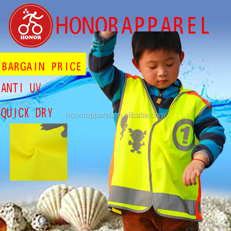 2017 honorapparel new arrival safty reflective comfortable children ' s cycling jersey cycling singlet
