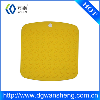 Rubber Padded Placemats For Round Tables, Silicone Kitchen Table Mat