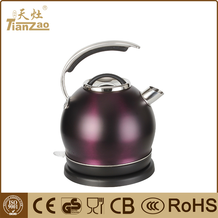 1.8L Fashion cordless stainless steel electric water kettle