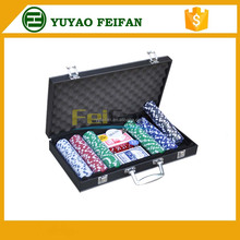 300pcs hot sell plastic poker chip with professional PU case
