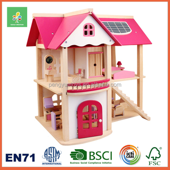 Good Wood Small Toy House For Kids Pretend Play