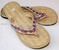 Kok Woven Straw Reed Slipper Flip Flop (papyrus Family)