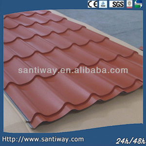 corrugated curving concrete metal roof tile for roofing