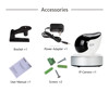 Indoor mini hidden wifi ip camera 1.3mp robot camera for UL power adaptor