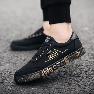 Shoes 2019 men casual shoes black canvas shoes and sneakers