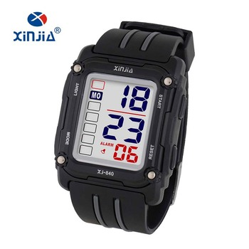 ahorrar 2a506 a9add 2014 Xinjia Mens Wrist Watch 30m Waterproof Square Shape Cheap Sport  Digital Watch For Promotion - Buy Mens Wrist Watch,Sport Watch,Digital  Watch ...