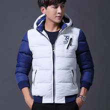 European Korean Men Foldable Windproof Solar Heated Down Jacket