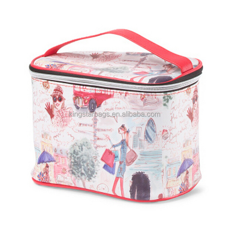 London City Print Train Case Women's Fashion Travel Toiletry Bag