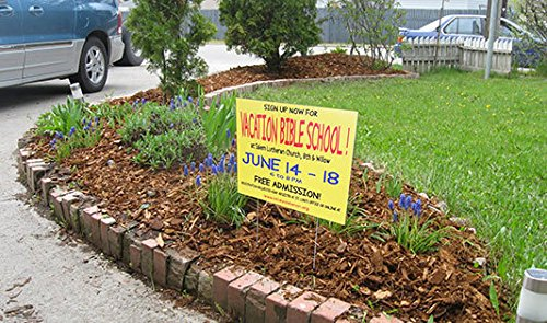 """BannerBuzz Custom Yard Signs With metal Stakes (Free Design for you By (9"""" x 12"""")"""