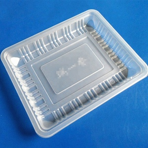 custom hot sale compartments disposable food grade PP frozen food blister packaging tray for food
