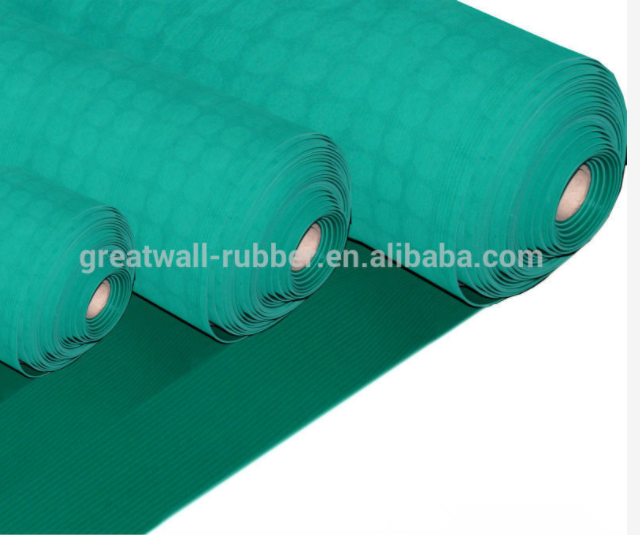ESD Safety Electrical Rubber Mats Insulation Carpets With Pattern or Cloth Impression